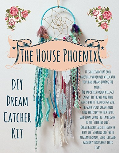 Aqua Blue DIY Dream Catcher Craft Kit. The Perfect Do It Yourself Birthday Gift for the Crafty Bohemian. Hang In Your Baby Boy's Nursery Room. Make Your Own Dreamcatcher Project. from The House Phoenix