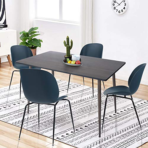 Amazon.com - HOUSEINBOX.COM Dining Table Solid Metal Legs ...