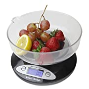 Amazon Lightning Deal 100% claimed: Smart Weigh CSB2KG Digital Multifunction Kitchen and Food Scale 2Kg x 0.1-Gram, Bowl Included