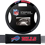 Fremont Die Buffalo Bills NFL Steering Wheel Cover and Seatbelt Pad Auto Deluxe Kit