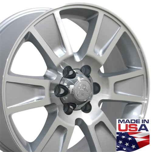 Ford F150 Alloy Wheel - 20x8.5 Wheel Fits Ford Truck - F-150 Style Silver Rim, Hollander 3787