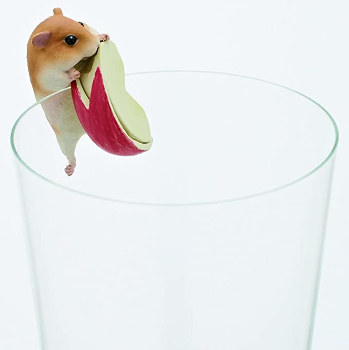 Flat Edges Blind Box Includes 1 of 8 Collectable Figurines Kitan Club Putitto Hamster Cup Toy Made from Durable Plastic KC-BB-HAMSTER1 Hangs on Thin Authentic Japanese Design