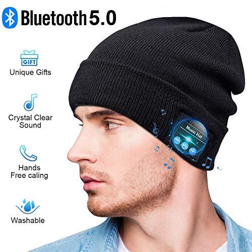 Bluetooth Beanie Hat, Gift Idea for Men Women Teenagers Stocking Stuffers