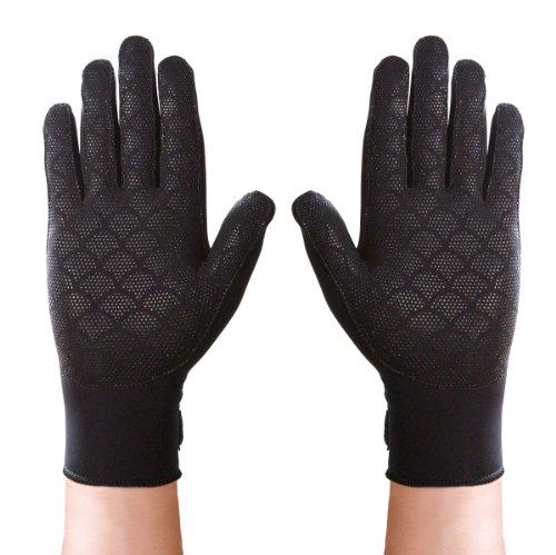 (Thermoskin Full Finger Arthritis Gloves, Black, Small)