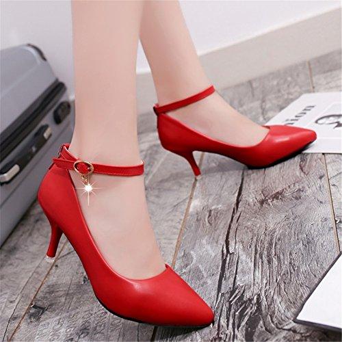 b1f0ae25 Delicado SHINIK 2018 zapatos de primavera nuevos de las mujeres tacones  altos zapatos negros de las