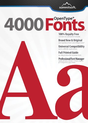4000 Fonts [Download] by Summitsoft
