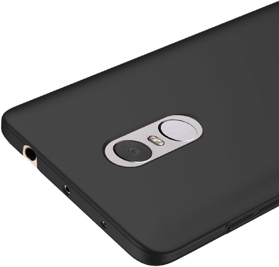 Nero Ultra Sottile Custodia Cover Case + Pellicola Protettiva Per Xiaomi Redmi Note 4 Vooway® MS70201