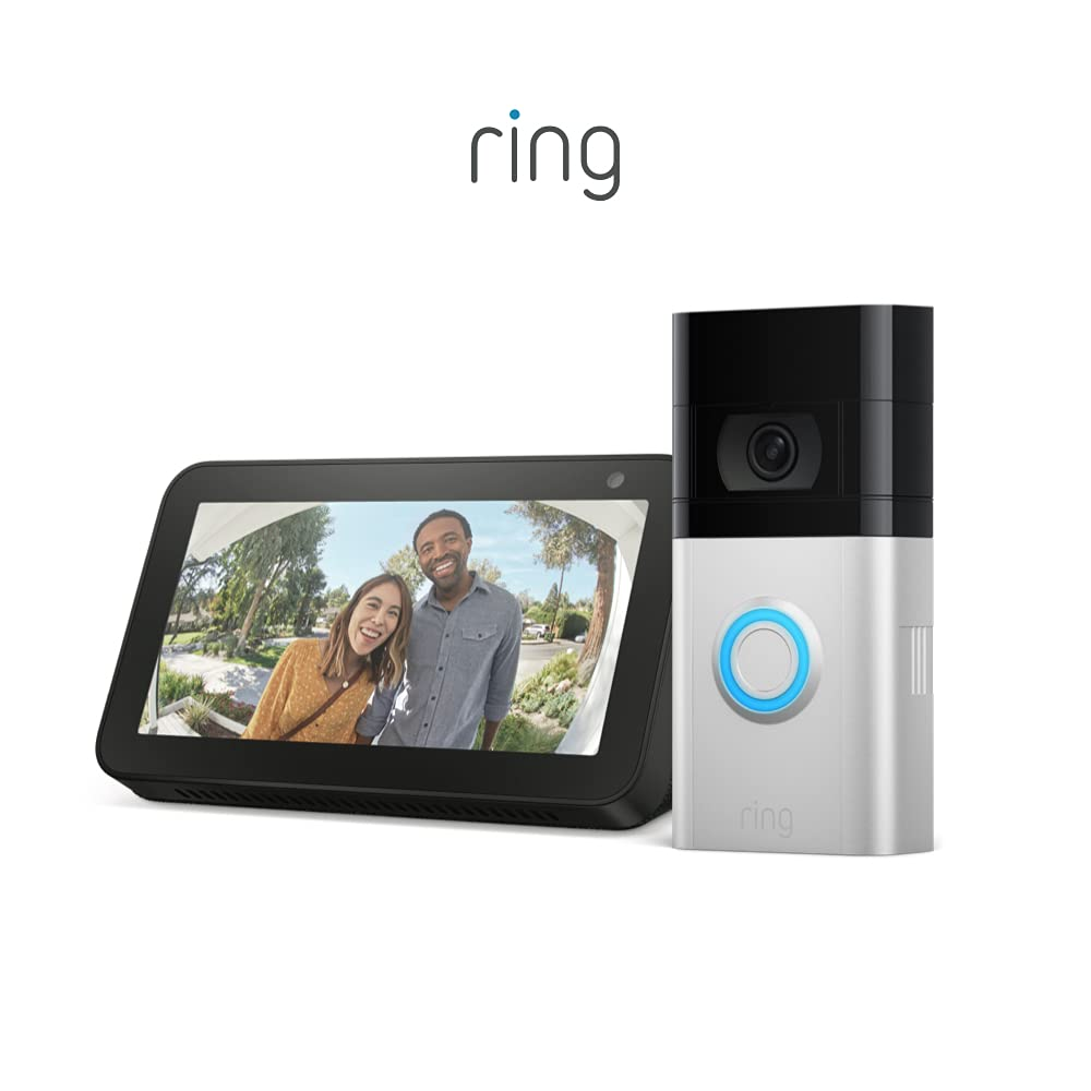 All-new Ring Video Doorbell 4 (2021 release) with Echo Show 5 (Charcoal)