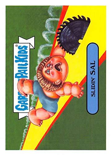 2019 Topps Garbage Pail Kids We Hate the '90s Toys Sticker #8b SLIDIN' SAL Sticker Trading Card