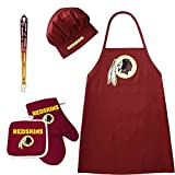 Washington Redskins NFL Barbeque Apron and Chef's Hat and Oven Mitt with Bottle Opener