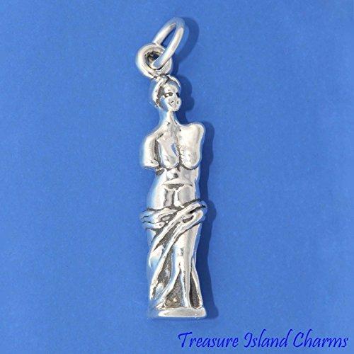 VENUS OF MILO GREEK STATUE Aphrodite Milos Greece 3D .925 Sterling Silver Charm Jewelry Making Supply Pendant Bracelet DIY Crafting by Wholesale -