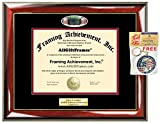 Diploma Frame Brown University School Campus Photo Custom Graduation Gift Idea Engraved Picture Frames Engraving Plaque Personalized Document Certificate Holder Graduate Him Her
