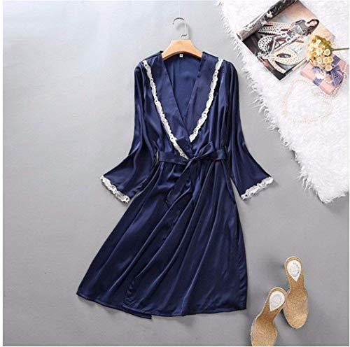 Estilo Mujer Azul Vestido Slingpyjamashome Satén Traje Moda Cómodo Especial Transpirable Pijama De Camisón 0TwqUx5