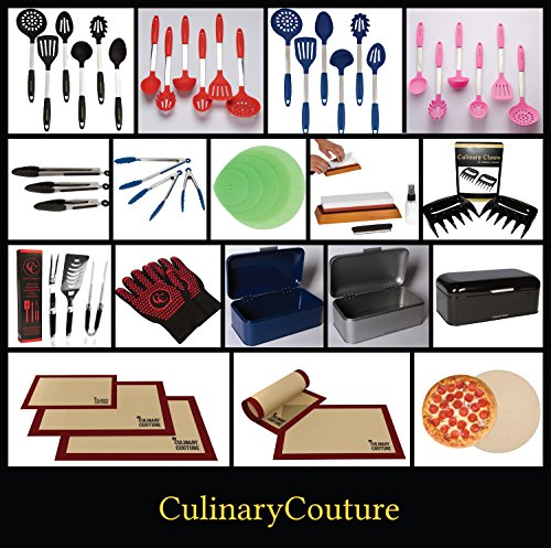 Silicone Baking Mat Set (3) Non-Stick Cookie Sheets - 2 Half Sheets and 1 Quarter Sheet - Baking Sheets For Bread Making Pastry Macarons Biscuit Buns - 16-5/8 x 11 Inch - Bonus Ebook! by Culinary Couture (Image #6)