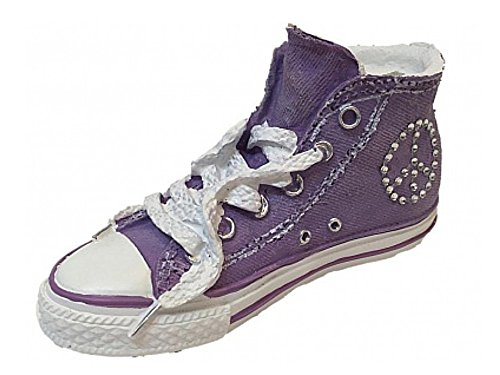 Classic High Top Sneaker Coin Bank in Purple