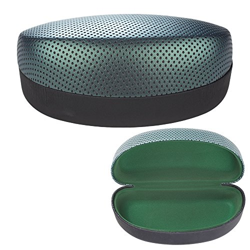 Large Designer Sunglasses Case - Lightweight Hard Clamshell Glasses Holder for Over-Sized Eyewear - 16cm X 7cm X 6cm - Green - By - Sized Over