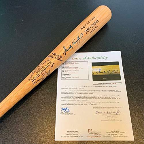 Autographed Sandy Koufax Baseball Bat - Beautiful Adirondack Game Model COA - JSA Certified - Autographed MLB Bats