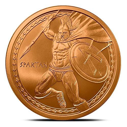 Spartan 1 oz Copper Round, Warrior -