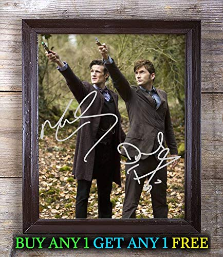 Matt Smith David Tennant Doctor Who Autographed Signed 8x10 Photo Reprint #71 Special Unique Gifts Ideas Him Her Best Friends Birthday Christmas Xmas Valentines Anniversary Fathers Mothers Day