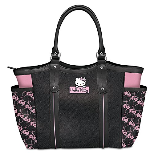 Exclusive Applique Patch Hello Kitty Style Icon Shoulder Tote Bag by The Bradford Exchange by Bradford Exchange