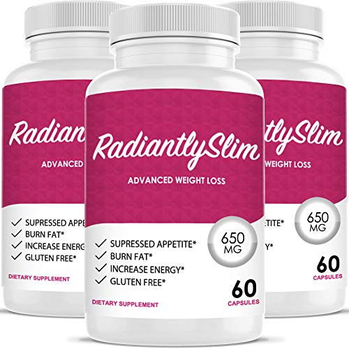 Radiantly Slim Pills for WeightLoss - Advanced Weigh Loss Supplement - Quicker Fat Burn - Carb Blocker (3 Month Supply)