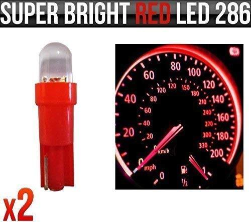 286 T5 WEDGE PUSH FIT DASHBOARD FLAT TOP LED SPEEDO DASH LIGHT BULBS UK SELLER