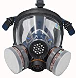 SCK Organic Vapor Respirator, Full Face Paint Respirator Gas Chemical Dustproof Pesticides Mask,Respiratory Protection