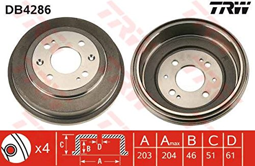 TRW DB4286 Brake Drums: