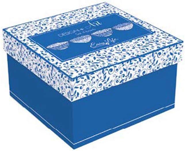 Multicouleur Easy Life 426TAPE Design Art COFFRET 4 BOLS 11CM EN CERAMIQUE TAPESTRY