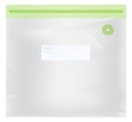 TM Electron TMVAC272 Kit de 10 Bolsas Zip para Envasar Al Vacío Reutilizables Tamaño S