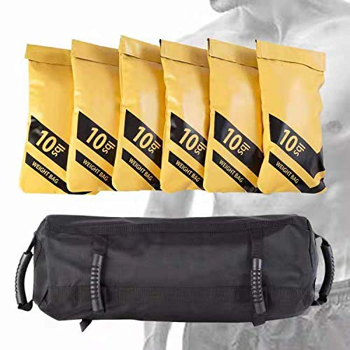 Estleys Workout Sandbag for Fitness 10 to 60 Lbs, Adjustable Military Sandbags, Training Weight Bags, Full Body Exercise Equipment with Filler Bag