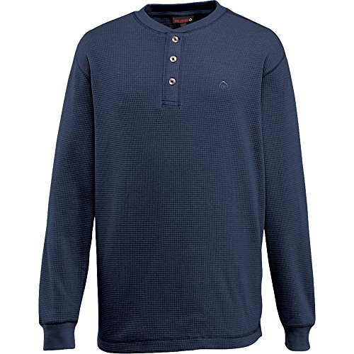 Wolverine Men's Walden Long Sleeve Henley, Navy, - Henley Waffle