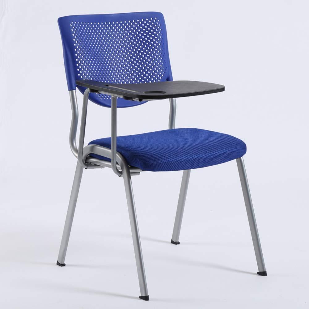 ZZHZY BBGS kontor utbildning stol, stärkning mesh andas med skrivbräde fällstol student bord stol ett stycke meddelande stol möte stol (färg: G) a