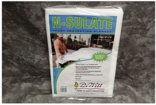 DeWitt NS12 12 Pack N-Sulate 1.5 oz 12'x10' Frost Cloth Plant Freeze Protection by DeWitt