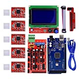 Homyl 3D Printer Controller Kit for Arduino Mega 2560 R3 Starter Kits +RAMPS 1.4 + 5pcs A4988 Stepper Motor Driver + LCD 2004 for Arduino Reprap