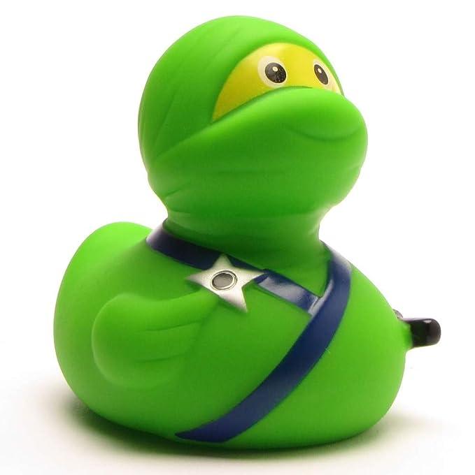 Duckshop Pato de Goma Ninja Verde: Amazon.es: Juguetes y juegos