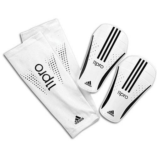 (adidas Pro Lite Shin Guard (White, Black, Size Large))