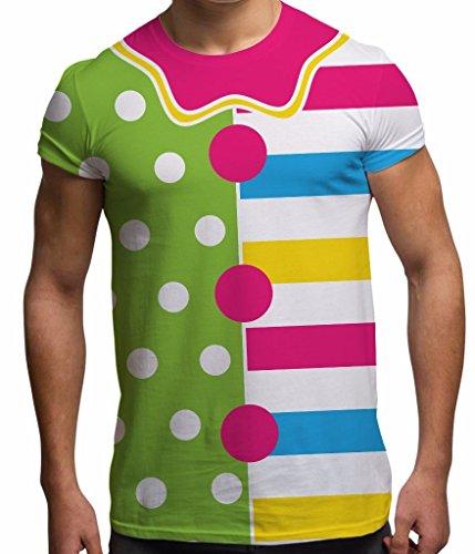 Men's Halloween Tee Horror T Shirt Clown Costume #2 Graphic Tops White