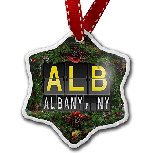 Christmas Ornament ALB Airport Code for Albany, NY - Neonblond (Tree Christmas Ny Albany)