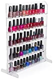 Fixture Displays Set of 2 15.9'' x 20.0'' x 7.0'' Countertop & Wall Mount Display Rack for Nail Polish, 5 Open Shelves, Acrylic - Clear 19395 19395