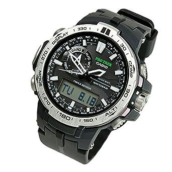 3d47ec78bf CASIO カシオ PRO TREK プロトレック メンズ 腕時計 電波 ソーラー アナデジ PRW-6000-1ER