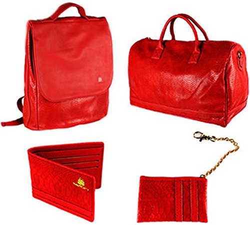 Red Leather Duffle Bag - 9