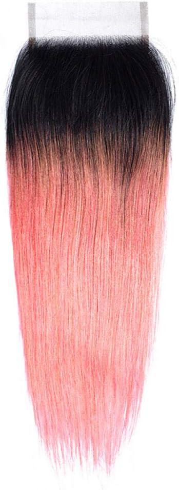 WIGM_human hair 4x4closure straight light/dark grey rose gold ...