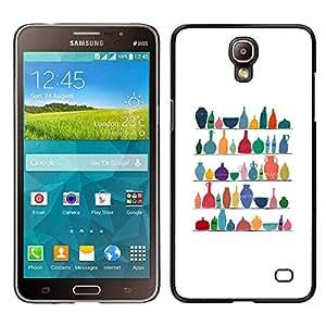 Samsung Galaxy Mega 2 / SM-G750F / G7508 Único Patrón Plástico Duro Fundas Cover Cubre Hard Case Cover - Clean White Pattern Colorful