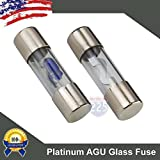 5 Pack 50 AMP Platinum AGU LED Indicator Glass Fuse 50A Car Truck Boat Marine RV