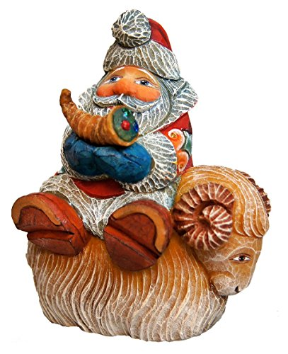 G. Debrekht Santa on Sheep Figurine Ornament, used for sale  Delivered anywhere in USA