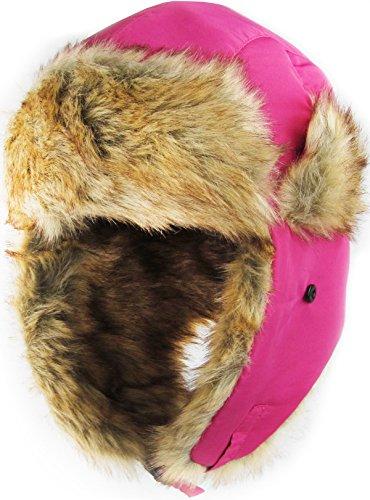 KBETHOS KBW-601 HPK Solid Aviator Trooper Trapper Hat Winter Cap (Leather Trapper Hat)