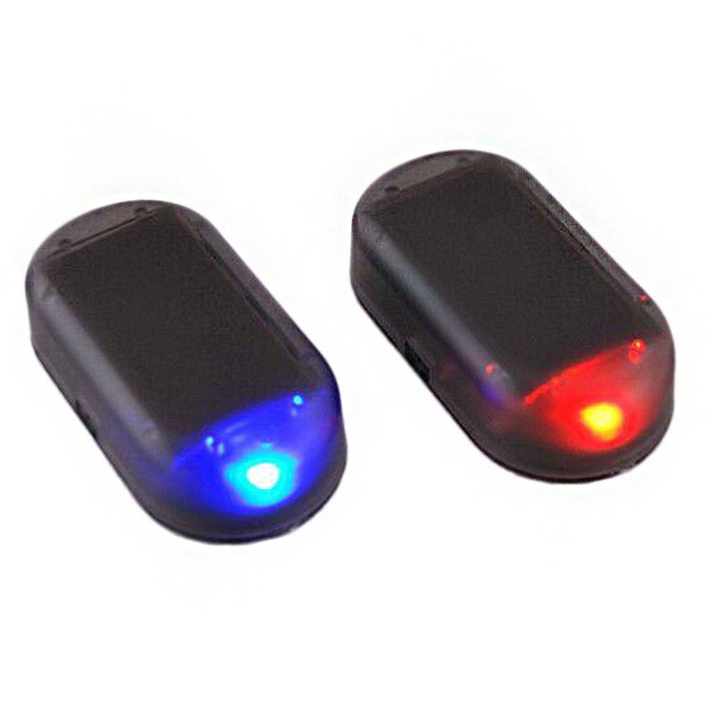 1PC Car Solar Energy Alarm Dummy Security Anti-Theft Warning Flash LED Light Merssavo
