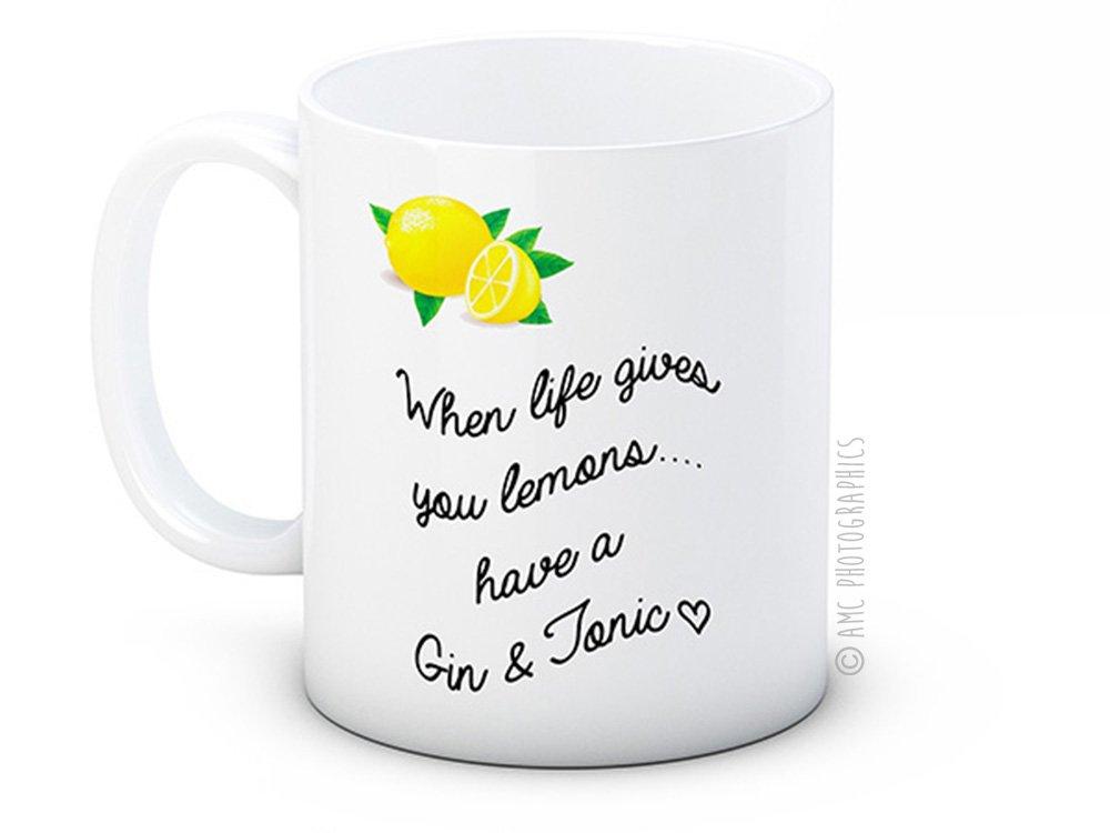 When Life Gives You Lemons Have a Gin and Tonic - Taza De Café De Alta Calidad: Amazon.es: Hogar