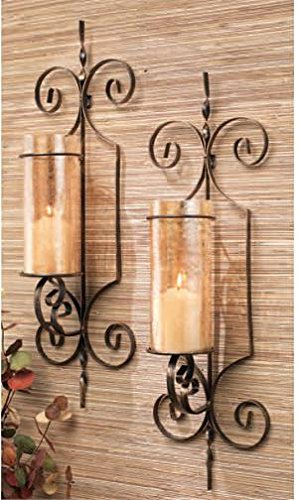 Home Essentials 64577 Wall Sconce Bristol Set of 2 Gold Gift Box
